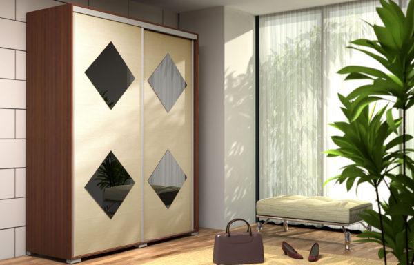 Szafa Oliwier – 4 kwadraty luster 0,5