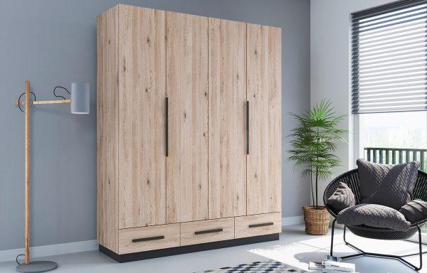 Szafa C2-b  drzwi składane + szuflady